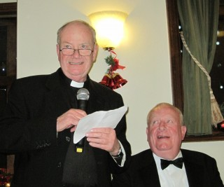 Father Barry Hughes, Parish Priest of St,. Columba's, Selsdon responds on behalf of the Clergy and Sisters at the Circle's Annual Clergy Supper.